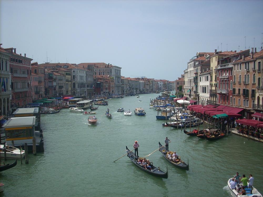Wenecja, widok z mostu Rialto