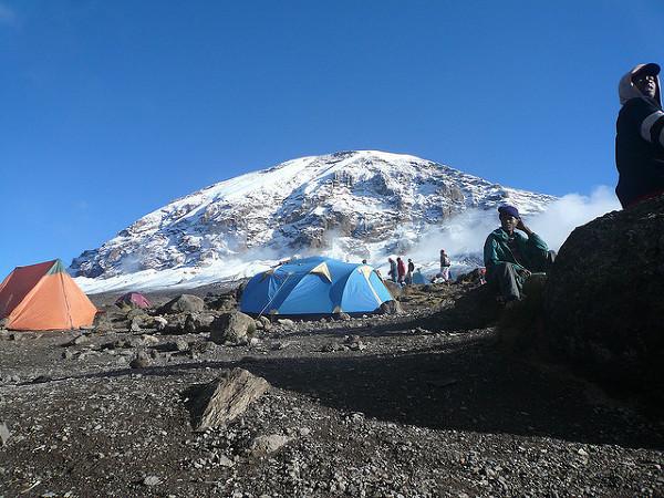 Obóz pod Kilimandżaro