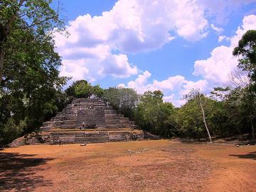 Orange Walk, świątynia Majów