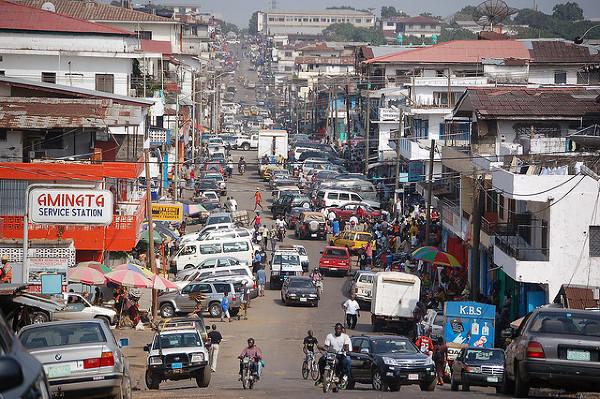 Monrowia - stolica Liberii.