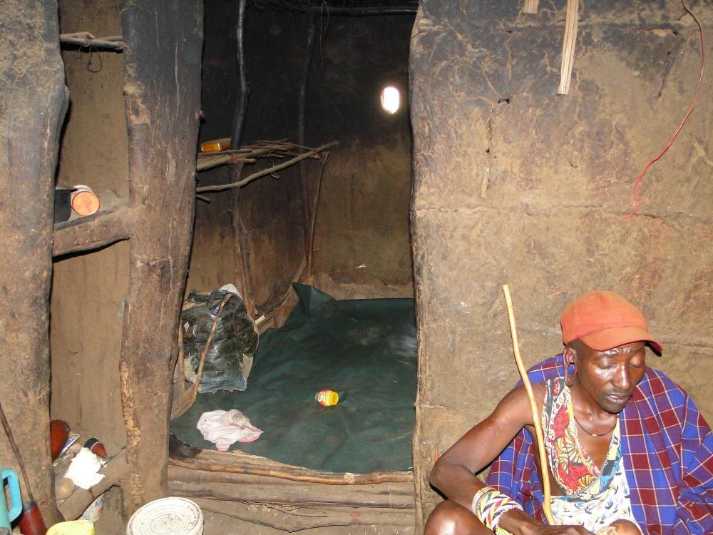 W masajskiej wiosce