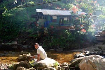Drugi dzień trekkingu, hamakowy camping