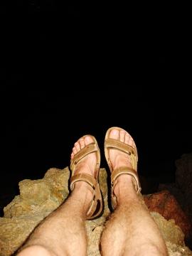 Wieczorna wędrówka po skałach (Francja)