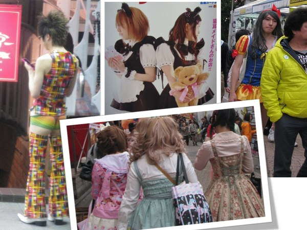Kolorowa moda na ulicach Tokio
