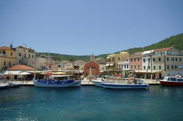 Port w Gaios (gdzie cumują promy)
