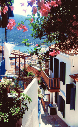 Uliczka na Skopelos