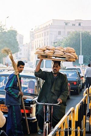 Egipt, Kair, Sprzedawca chleba