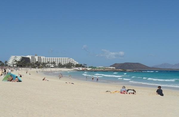 Plaża w Corralejo, Fuerteventura