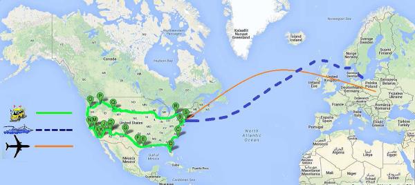 Trasa po USA