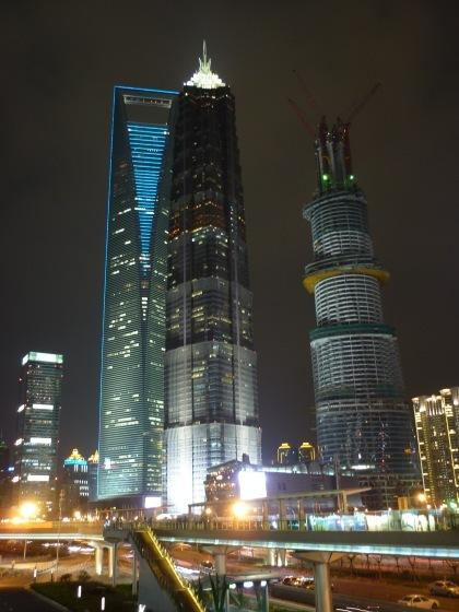 widok na wieżowce szanghajskiego Pudongu