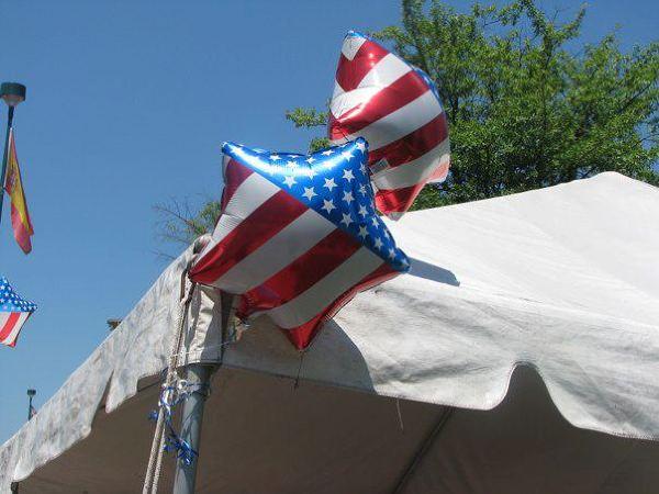 baloniki z motywem amerykańskiej flagi, Atlanta