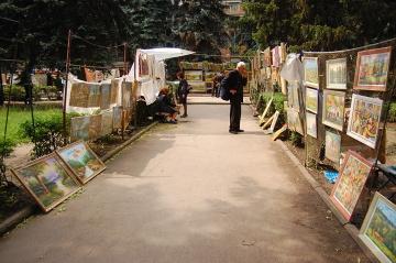 Kiszyniów, galeria w parku