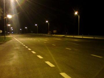 Litewska autostrada nocą