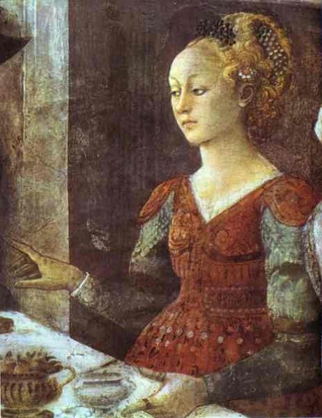 Fragment fresku Uczta u Heroda Fra Filippo Lippiego