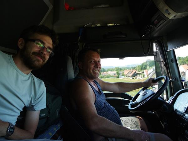 Z naszym polskim kierowcą w Słowenii