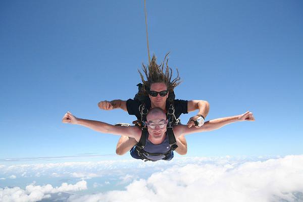 Podniebny lot, sky diving