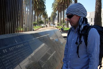 Valparaiso – tablica upamiętniająca poległych z rąk Pinocheta