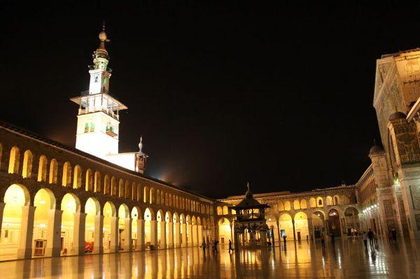 Meczet Umajjadów nocą, Damaszek