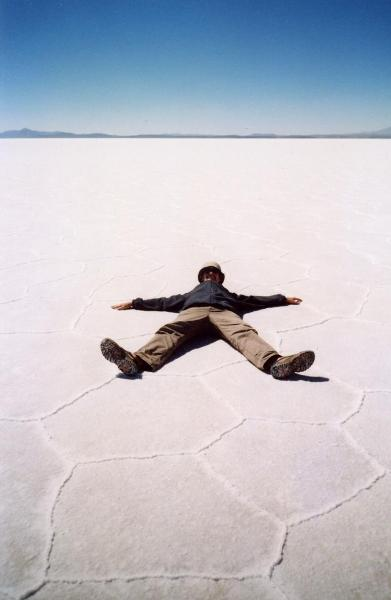 Relaks na boliwijskiej słonej pustyni