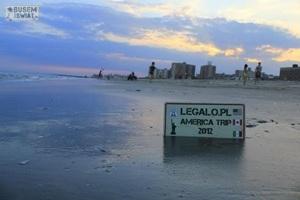 """Logo aktualnej wyprawy """"Legalo.pl America Trip 2012""""."""