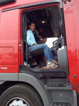 Manolo i jego ciężarówka - nasz transport, hotel i restauracja w jednym