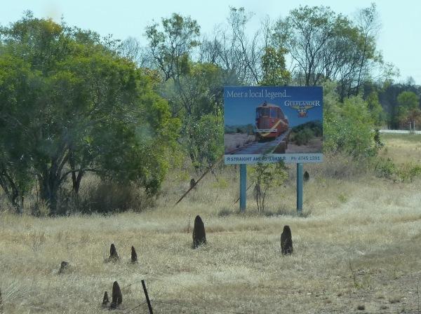 reklama pociągu z Normanton