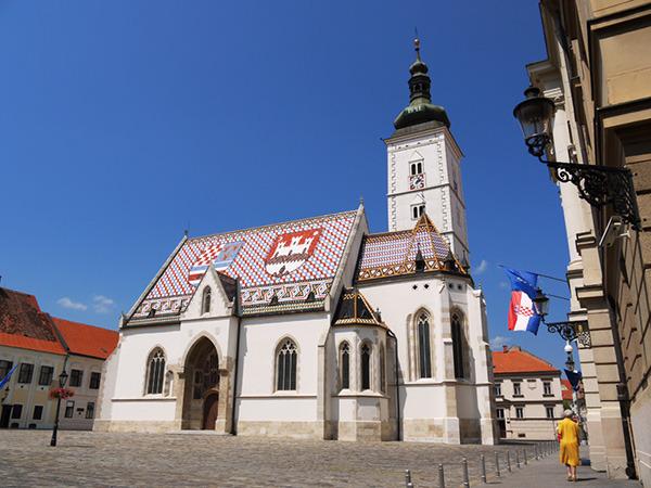 Kościół św, Marka, Zagrzeb, Chorwacja