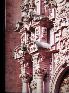 Fragment ozdób w Muzeum w Tepotzotlán, którym jest były klasztor jezuitów.