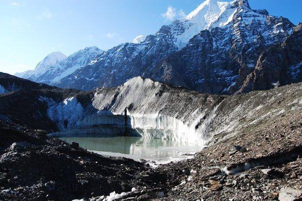 Azja, Kirgistan, lodowiec Inylczek.