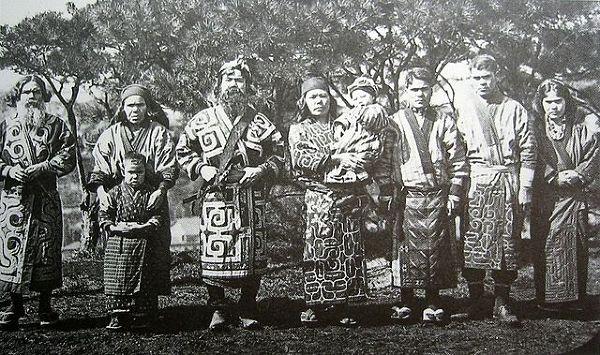 Ainu, fotografia z 1904 roku