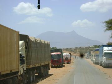 Droga w Tanzanii, po przekroczeniu granicy