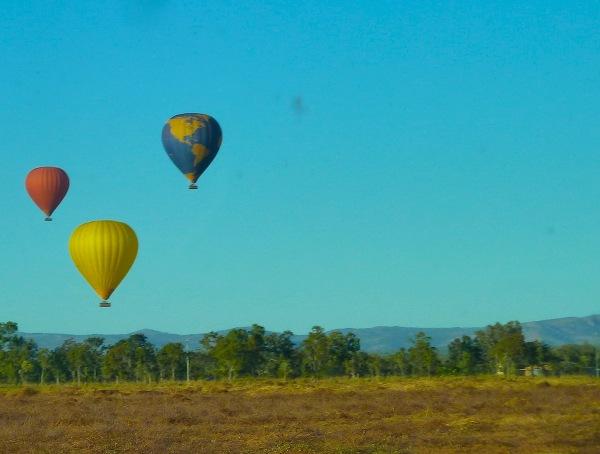 cudny widok - zapragnęłam kiedyś odbyć podróż balonem