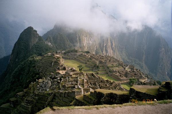 Machu Picchu tuż po wschodzie słońca