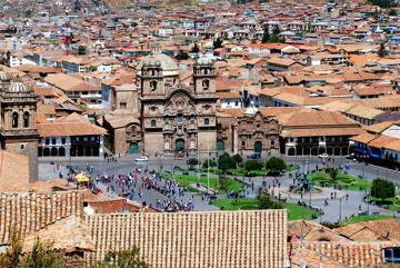 Cuzco z lotu ptaka