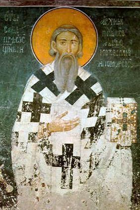 patron Serbii- święty Sawa