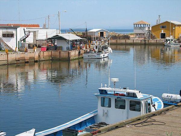 Port rybacki na Wyspie Księcia Edwarda
