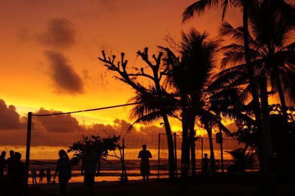 Zachód słońca na plaży w Colombo