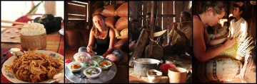 """Laos to przyjazne miejsce, z pysznym smażonym bambusem, ryżem kleistym, domowej roboty alkoholem i """"zajęciami"""" z wyplatania koszyków"""