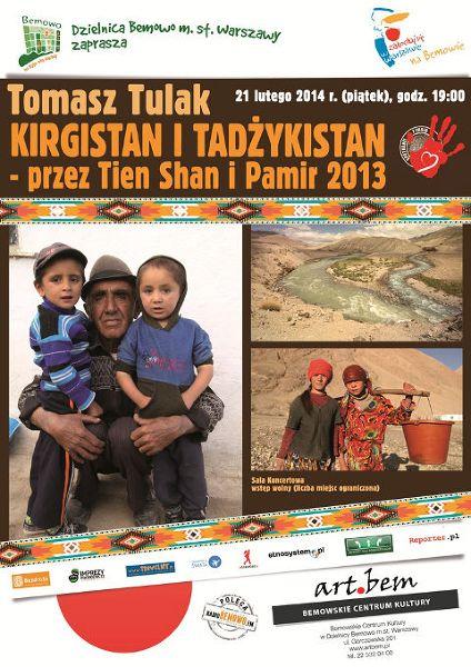 Relacja z podróży do Kirgistanu i Tadżykistanu 21 lutego w Bemowskim Centrum Kultury