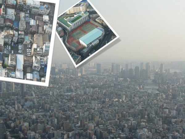 Widok na Tokio ze Skytree
