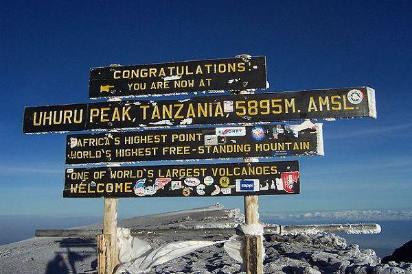 Kilimandżaro, wierzchołek Uhuru