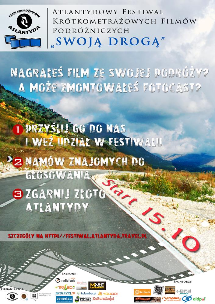 """Festiwal Krótkometrażowych Filmów Podróżniczych """"Swoja Drogą"""""""