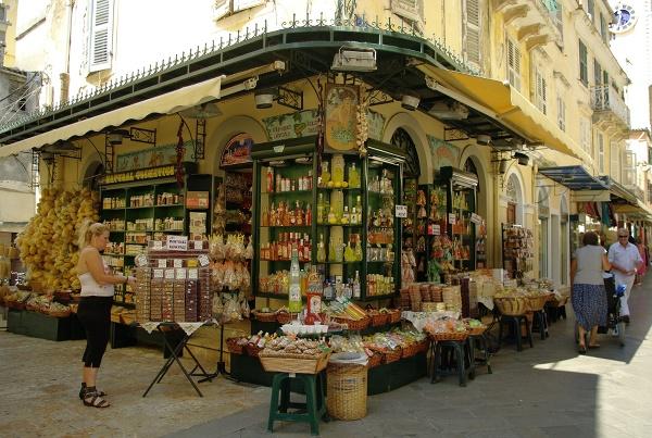 Sklep z pysznościami, Korfu