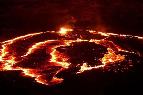 Wulkan Erta Ale położony w północnej Etiopii, w regionie Afar należy do najbardziej aktywnych w całym kraju.