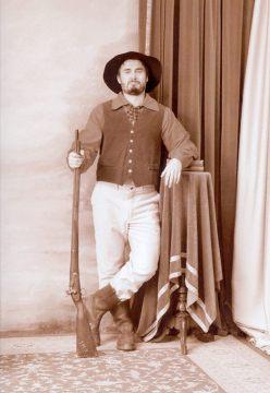 A tak wyglądam ja jako poszukiwacz złota, w stroju z epoki :-)