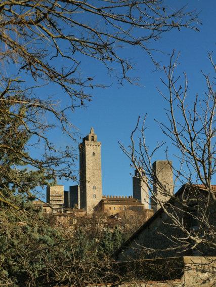 San Gimignano, niewielkie miasto w centralnej Toskanii