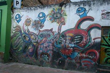 Psychodeliczne murale w Bogocie