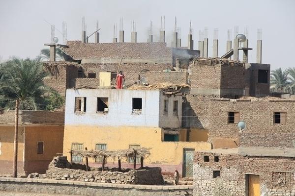 Typowa zabudowa w Egipcie