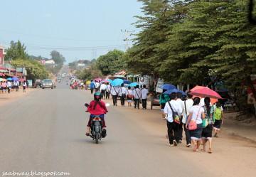 Główna trasa przejazdowa przez Laos północny