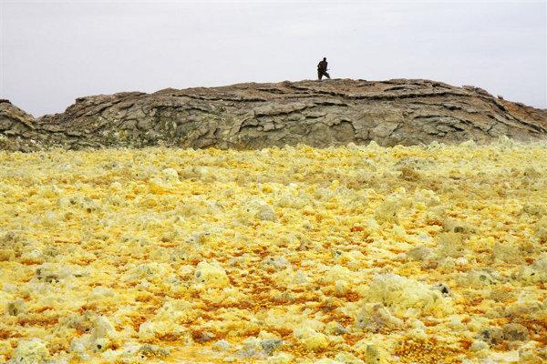 Dallol to również dziwne formacje skalne